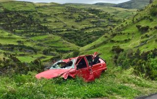 A red car in need of a flatbed tow truck|tow truck Melbourne